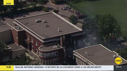 Una fuga de gas causó una explosión en una escuela de Minneapolis