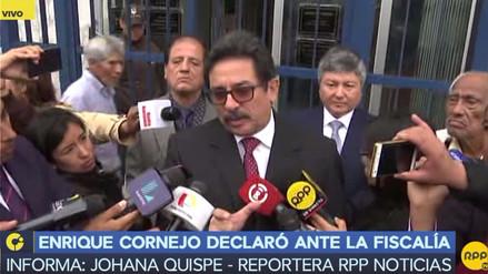 """Cornejo tras declarar en Fiscalía: """"Soy ahora una persona bastante desconfiada"""""""