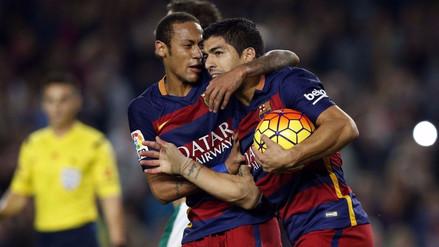 La emotiva despedida de Luis Suárez a Neymar del Barcelona