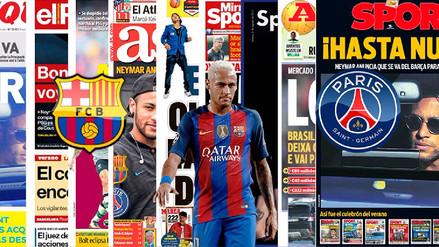 Las principales portadas del mundo tras la salida de Neymar del Barcelona
