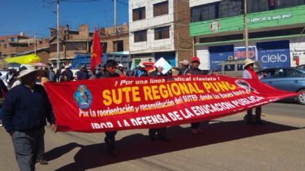 """Suter Puno: """"La huelga seguirá hasta que reciban a los verdaderos dirigentes"""""""