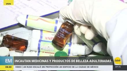 Incautan medicamentos y cosméticos adulterados en el Centro de Lima