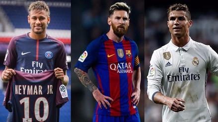 Con Neymar: la lista de los 10 jugadores mejores pagados del mundo
