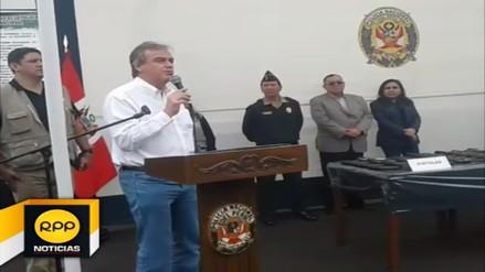 Ministro del Interior cambia al jefe de la región policial de La Libertad