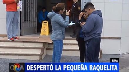 Despertó la bebé de 11 meses que fue herida de bala en Villa El Salvador