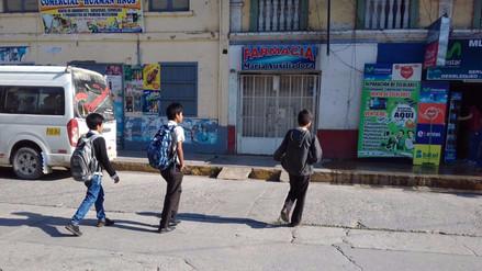 Escolares deambularon por la calles de Chanchamayo por colegios cerrados