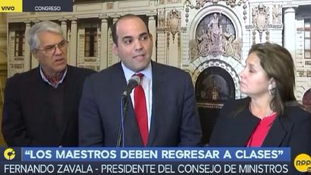 Fernando Zavala anuncia más sanciones si los maestros no vuelven a clases