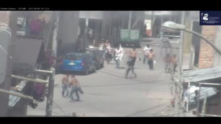 Barristas se enfrentan en las calles de Cajamarca