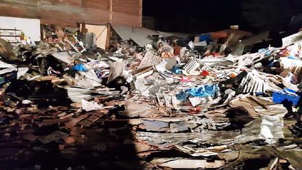 Huancayo: comerciantes pernoctan en mercado demolido por municipio