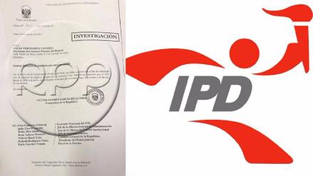 Solicitan al IPD todos los contratos no deportivos firmados desde 2006