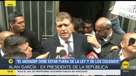"""Alan García: """"Al lado de otros presidentes vendidos yo me considero limpio"""""""