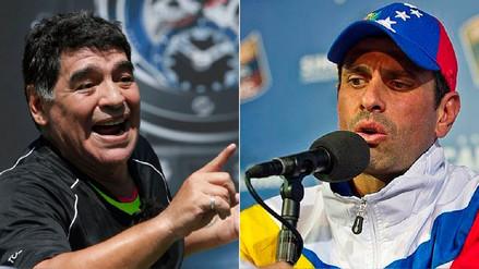 Maradona a Capriles: