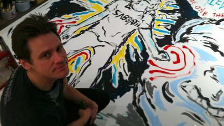 Jim Carrey exorciza sus demonios a través de la pintura