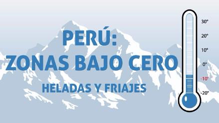 Perú: Zonas con temperaturas bajo cero