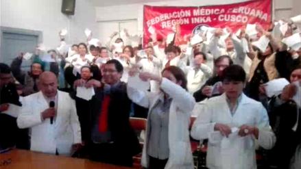 Médicos cusqueños rechazan acta firmada por dirigentes y Minsa