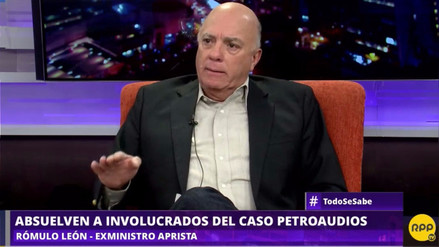 """Rómulo León a Alan García: """"Ojalá te defiendas bien, para que no te vayas preso"""""""