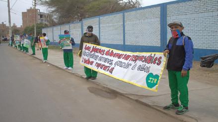 Adolescentes infractores participan en jornada de limpieza