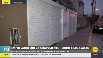 Rateros propinaron una golpiza a un empresario que se resistió al asalto