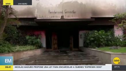 Al menos seis heridos en el incendio de un edificio en San Isidro