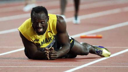 Usain Bolt se lesionó en el 4x100 del Mundial de Atletismo de Londres