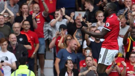 Así fue el primer doblete de Romelu Lukaku con el United en Premier League