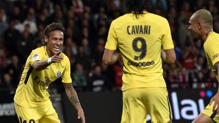 Neymar anotó un gol en su debut con la camiseta del PSG