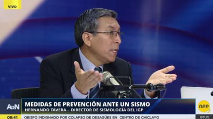 """Tavera: """"El sismo que ocurra en Lima podría ser comparable con el de Chile en el 2010"""""""