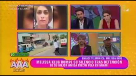 Melissa Klug se quiebra al hablar de Evelyn Vela
