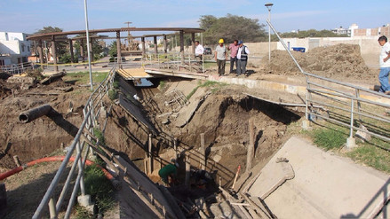 Terminan instalación de tuberías del colector que cruza Yortuque