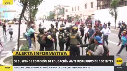 Se suspendió sesión de comisión de Educación ante disturbios de docentes