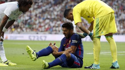 Luis Suárez estará de baja cuatro semanas por una lesión en la rodilla