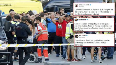El fútbol mundial se solidariza con las víctimas del atentado de Barcelona