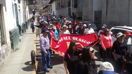 Bases provinciales de docentes marchan en Cajamarca por huelga indefinida