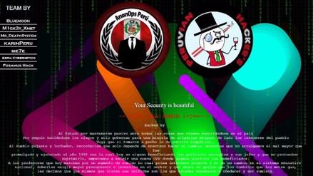 Hackers atacaron webs de instituciones públicas en Lima y Provincias