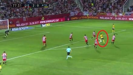 El golazo de Ángel Correa en el empate del Atlético Madrid ante Girona