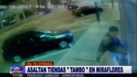 Dos venezolanos son capturados luego de robar una tienda Tambo de Miraflores