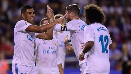 Casemiro marcó un golazo con 44 pases para el Real Madrid ante La Coruña
