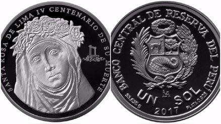 BCR lanzó moneda por los 400 años de la muerte de Santa Rosa