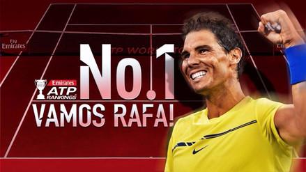 Rafael Nadal vuelve a ser el número uno del ranking ATP