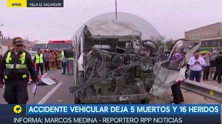 Un accidente en la Panamericana Sur dejó cinco muertos