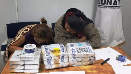 Dos mujeres fueron capturadas al intentar trasladar droga a Chile y Bolivia
