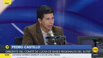 """Pedro Castillo: """"Si el profesor no rinde, que se quede en su escala"""""""