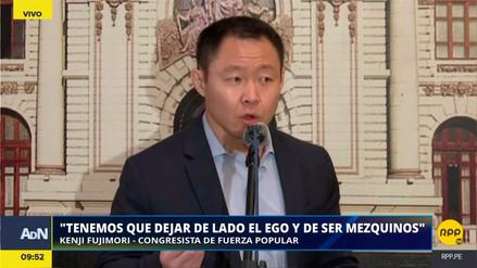 """Kenji Fujimori pidió más diálogo para solucionar la huelga: """"Ya no estamos en campaña"""""""