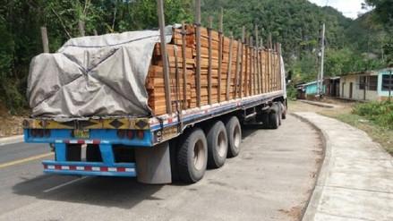Más de 46 mil pies de madera se incautaron en carreteras de la selva