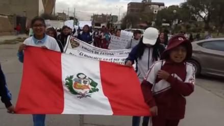 Huancayo: estudiantes se movilizaron en apoyo a profesores