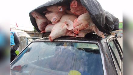 Carnes y verduras no se trasladan en condiciones apropiadas
