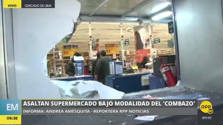 Roban a combazos un supermercado del Centro de Lima