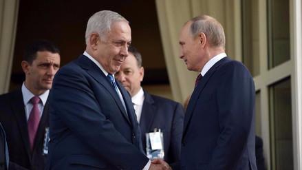 Netanyahu dice a Putin que la creciente presencia iraní en Siria amenaza a Israel