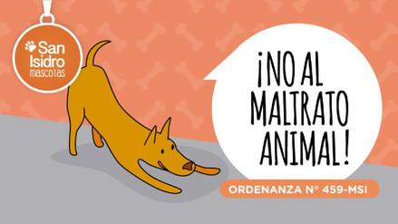 """San Isidro: """"La multa es para el que abandona al perro, no por el ladrido"""""""