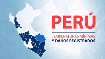 Interactivo: Temperaturas mínimas y daños registrados en Perú